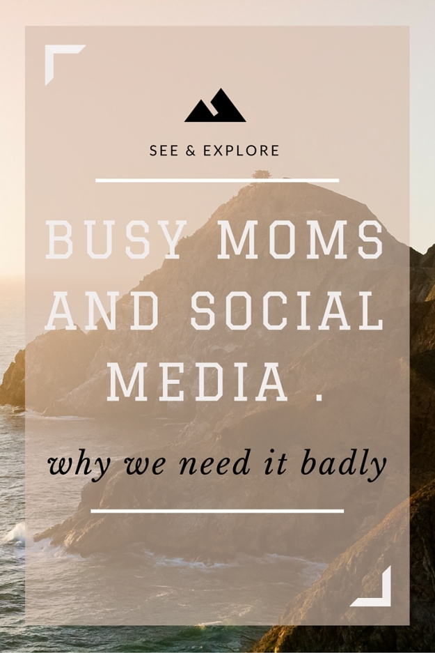 busy moms and social media .